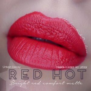 2/$20 urban decay red hot lipstick cinnamon stick